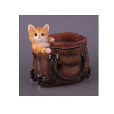 Кашпо «Сумка с котенком»