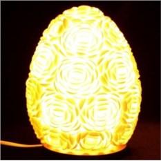 Настольный светильник из ракушек