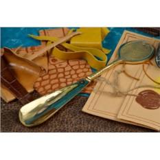 Золотой металлический рожок для обуви Socotra
