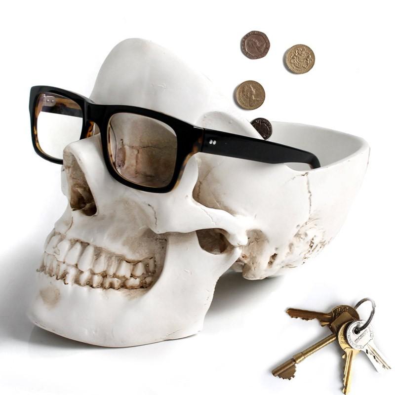 Белый органайзер для мелочей Skull