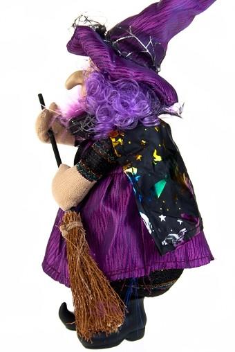 Кукла декоративная Добрая ведьмочка с метлой