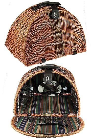 Набор для пикника на 2 персоны в плетеном коробе