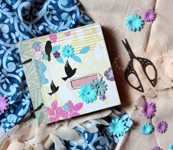 Набор для создания скрапбукинг альбома  Цветочная поляна