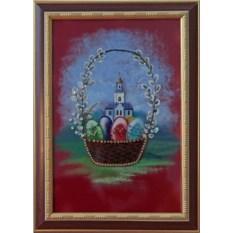 Картина с кристаллами Swarovski Пасха