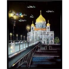 Картина с кристаллами Swarovski Храм Христа Спасителя