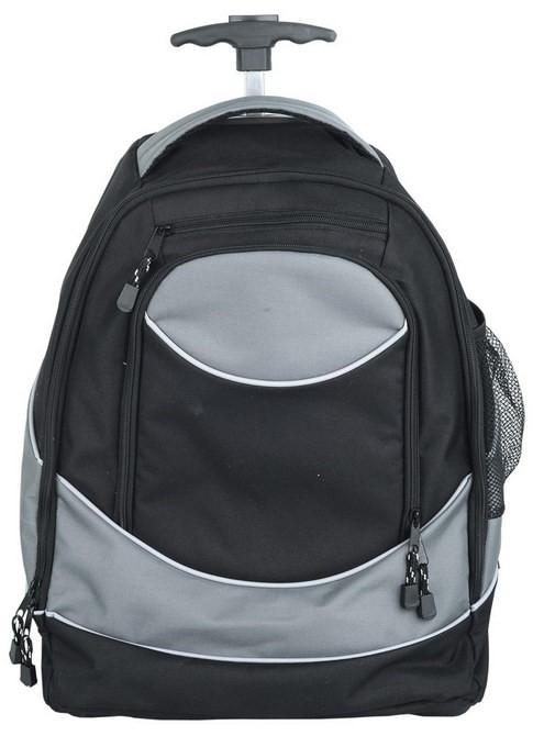 Рюкзак на колесиках с 1 отделение и выдвижной ручкой, черный