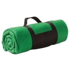 Зеленый флисовый плед Soft