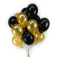 Черные и золотые шарики