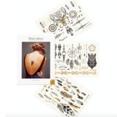 Татуировка переводная Gypsy Soul, набор 3 листа
