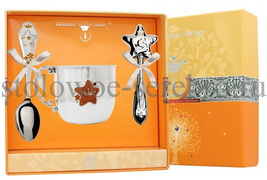 Серебряный столовый набор Звезда №178