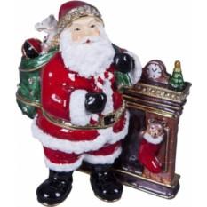 Шкатулка Дед Мороз у камина
