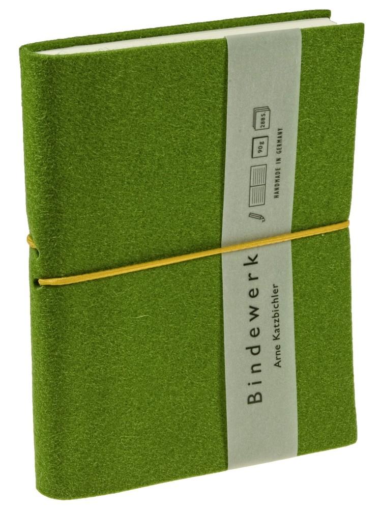 Книга для записей Feltbook, зеленая