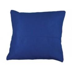 Складывающийся в подушку синий плед с рукавами