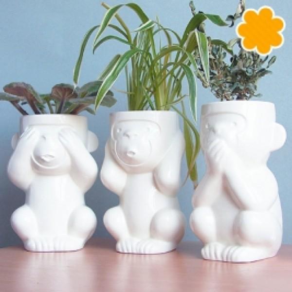 Экочеловечки-обезьянки Слепыш, Молчун, Игнорик