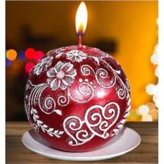 Новогодняя свеча «Рубин»