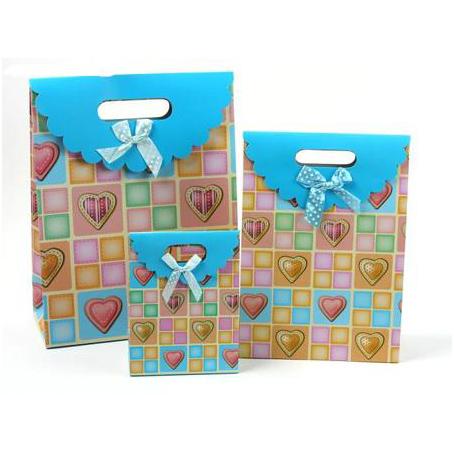 Коробка - пакет сборный, с рисунком клетки