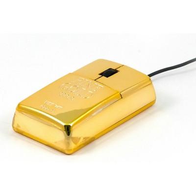 Компьютерная мышь «Золотой слиток»