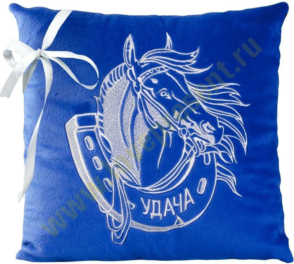 Подушка Удачный Год синяя