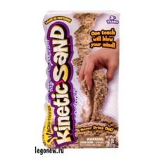 Коричневый кинетический песок для лепки 910 грамм
