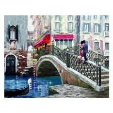 Алмазная вышивка «Влюбленные. Мост в Венеции»