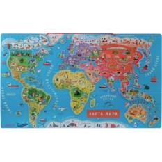 Карта мира с магнитными пазлами