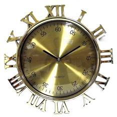 Часы Римские цифры, снаружи под золото