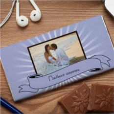 Шоколадная открытка Нежный блеск