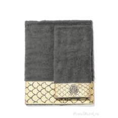 Набор из двух темно-серых полотенец Roberto Cavalli Gold