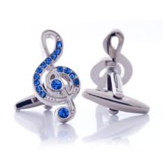 Запонки (скрипичный ключ)