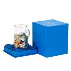 Подстаканник в синем подарочном коробе Герб России