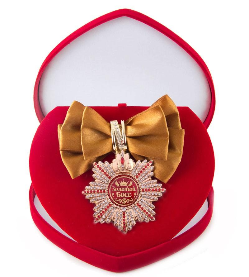 Большой Орден с бронзовой лентой Золотой босс