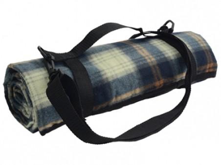 Плед для пикника с непромокаемой подкладкой и ремнем