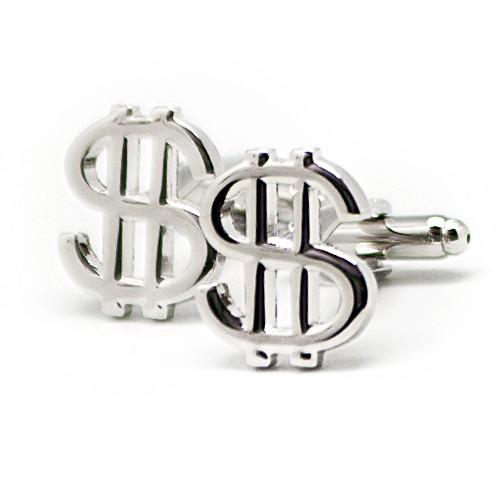Запонки $ (серебряные)