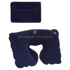 Синяя надувная подушка в чехле Путешественник