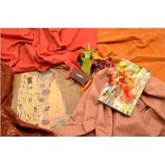 Горизонтальный кардхолдер-книжка из кожи Буйство цветов