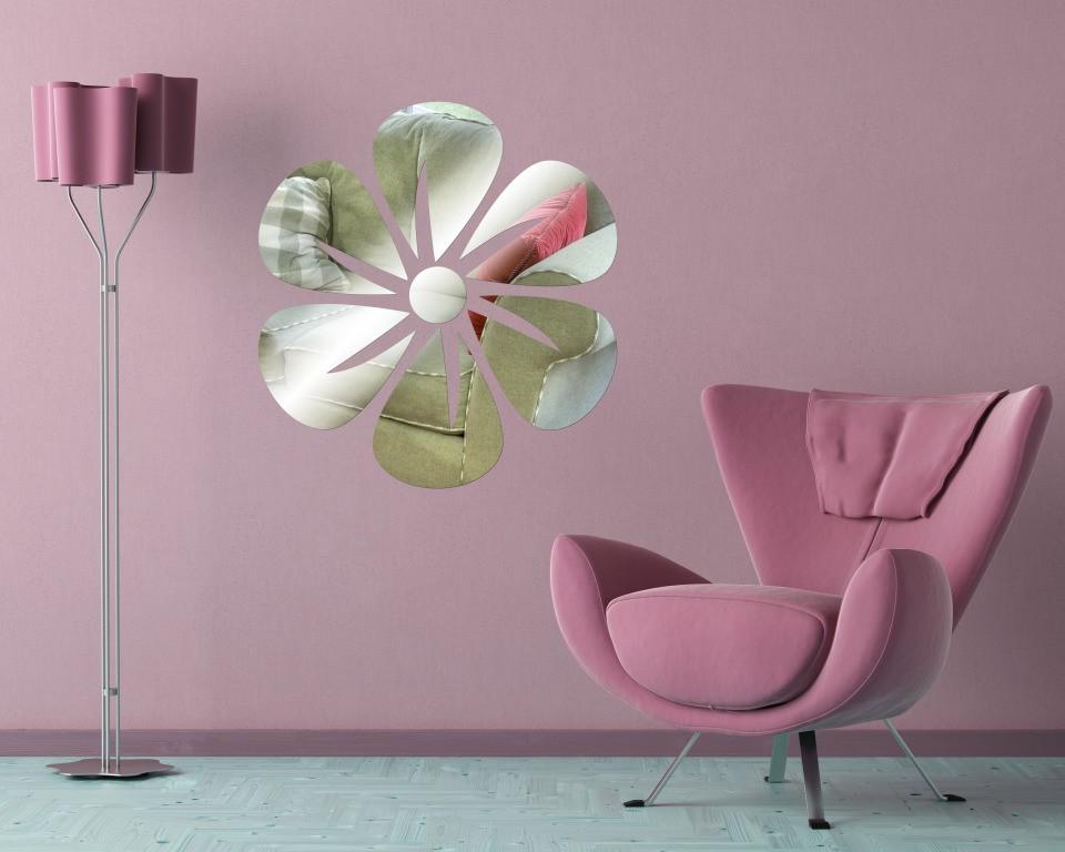 Декоративное акриловое зеркало «Цветок-2»