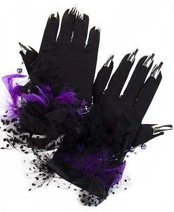 Маскарадные перчатки для взрослых Опасная леди
