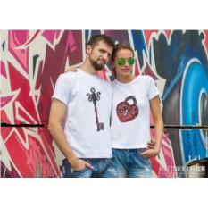 Парные футболки «Ключ от сердца»