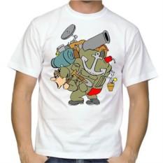 Мужская футболка Солдат с рюкзаком