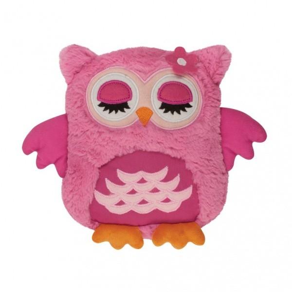 Игрушка-грелка Розовая сова