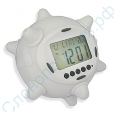 Прыгающий будильник-часы с подсветкой