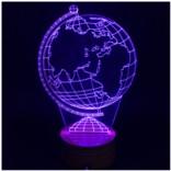3D лампа с режимом изменения цвета «Глобус»