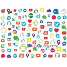 Лист виниловых наклеек Социальные сети