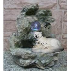 Фонтан с подсветкой Медведица с медвежатами отдыхают