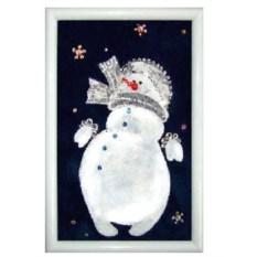 Картина Swarovski Снеговик