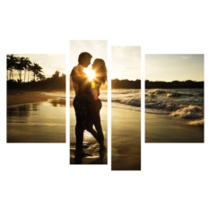 Модульная картина Влюблённые на берегу