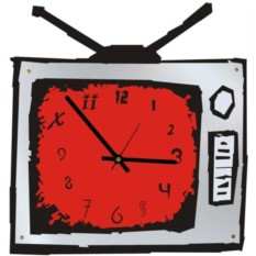 Настенные часы Телевизор (зеркальные)