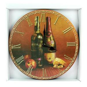 Часы-ретро «Натюрморт с вином»