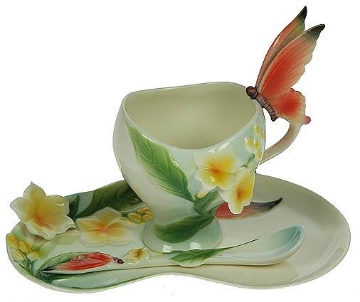 Подарочный чайный набор Бабочки, на 1 персону