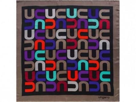 Шелковый платок Ungaro Monogramma